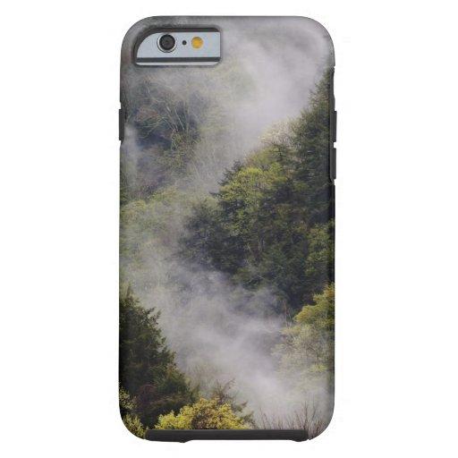 Nebel, der vom Bergabhang nach Frühlingsregen Tough iPhone 6 Hülle