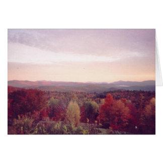 """""""Nebel des frühen Morgens, am 15. Oktober 2008 """" Karte"""