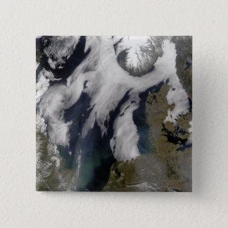 Nebel in der Nordsee Quadratischer Button 5,1 Cm