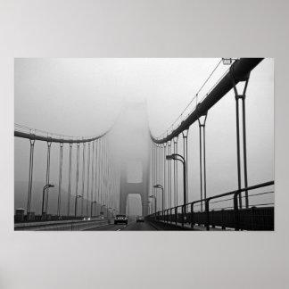 Nebel in San Francisco Poster