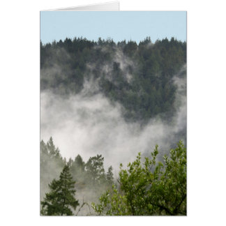 Nebel-Steigen Grußkarte