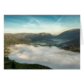 Nebel über Grasmere See, Cumbria, England Karte