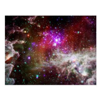 Nebelfleck des Sternhaufen-NGC 281 Pacman Postkarte