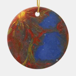 Nebelfleck Keramik Ornament