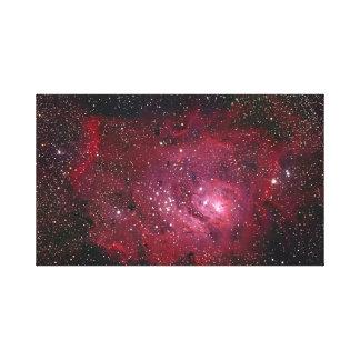 Nebelfleck NGC 6523 der Lagune-M8 Leinwanddruck