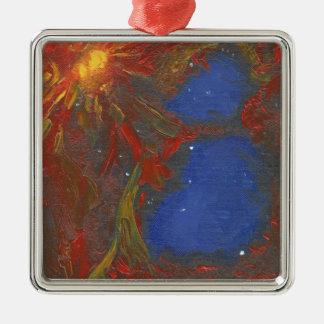 Nebelfleck Silbernes Ornament