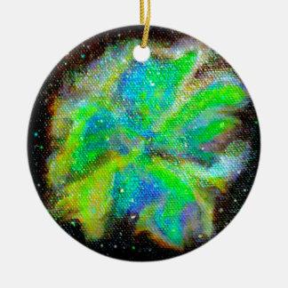 Nebelfleck und Stardust kosmische Raum-Szene Keramik Ornament