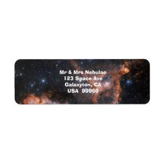 Nebelfleck-Weltraum-Astronomie-Aufkleber Rückversand-Adressaufkleber