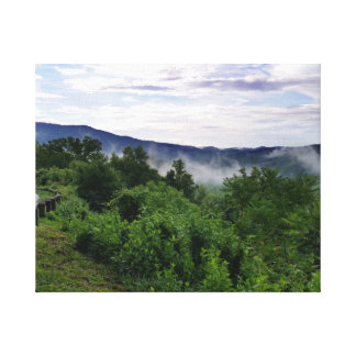 Nebelhafte Berge Great Smoky Mountains Leinwanddruck