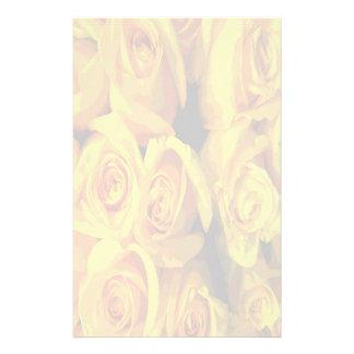Nebelhafte gelbe Rosen Briefpapier