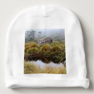 Nebelhafte Morgenreflexionen, Tasmanien, Babymütze