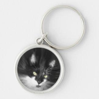 Nebelhafte Smokings-Katze Schlüsselanhänger