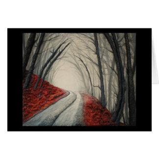 Nebelhafte Straße durch feinen Künstler Alison Karte