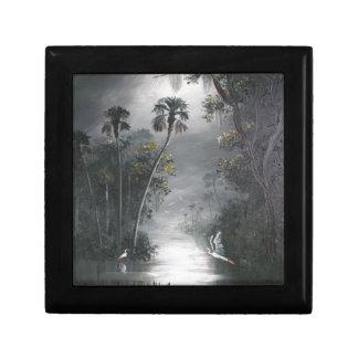 Nebelhafter Florida-Fluss-Reiher Geschenkbox