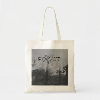 Nebelhafter Waldgruselige Schwarzweiss-Tasche Tragetasche