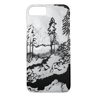 Nebelhafter Waldtelefon-Kasten iPhone 8/7 Hülle