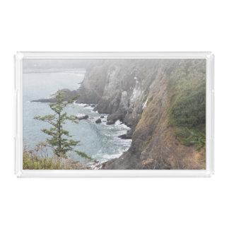 Nebelhaftes Küstenlinien-Foto Acryl Tablett