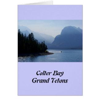 Nebelhaftes Tetons Karte