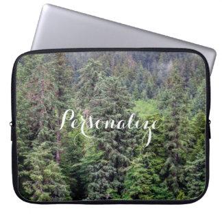 Nebelige Waldlaptop-Hülse Laptopschutzhülle