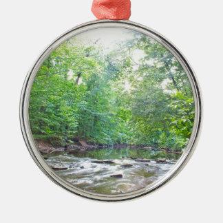 Nebenfluss - Sommer Silbernes Ornament
