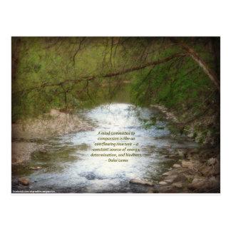 Nebenfluss u. Dalai Lama-Mitleid-Zitat Postkarte