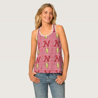 Nebraska Women's All-Over Print Racerback Tank Top