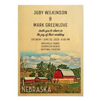 Nebraska-Hochzeits-Einladungs-Bauernhof-Scheune Karte
