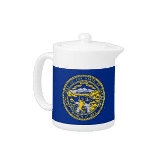 Nebraska-Staats-Flaggen-Teekanne