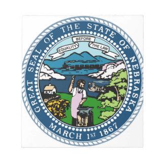 Nebraska-Staats-Siegel Notizblock