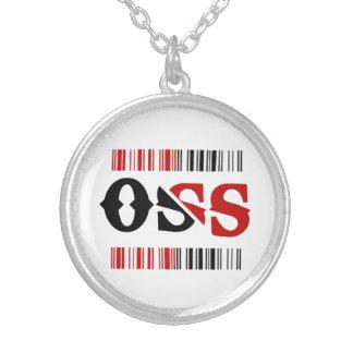 Necklace oss - Halsband Jiu-jitsu Versilberte Kette