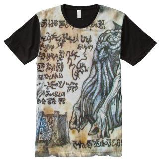 Necronomicon Cthulhu Dämon-Tor T-Shirt Mit Komplett Bedruckbarer Vorderseite