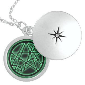 Necronomicon - Zugang Sigil heller Talisman Sterling Silberkette