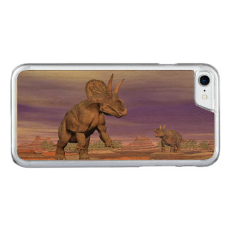 Nedoceratops/diceratops Dinosaurier in der Natur Carved iPhone 8/7 Hülle