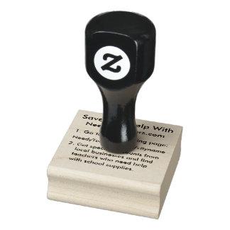 NeedyTeachers.com-Gummi-Briefmarke Gummistempel