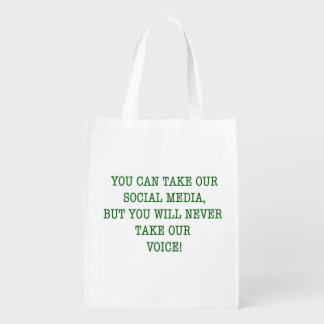 Neer nehmen unsere Stimme! Wiederverwendbare Einkaufstasche