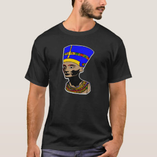 Nefertiti-Schwarzes T-Shirt
