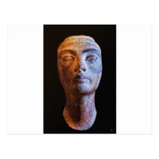 Nefertiti unfertig postkarte
