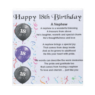 18 Geburtstags Notizblocke Zazzle De
