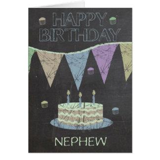 Neffe-modischer Kreide-Brett-Effekt, mit Kuchen Karte