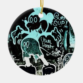 Negative Maus Keramik Ornament