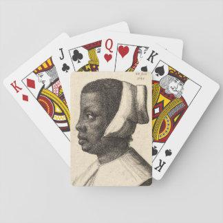 Negress durch Wenceslaus Hollar Spielkarten