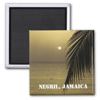 Negril, Jamaika-Magnet Quadratischer Magnet