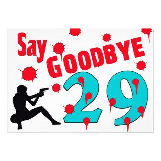 Nehmen Sie 29 A von der 30. der Geburtstags-Feier  Individuelle Ankündigung