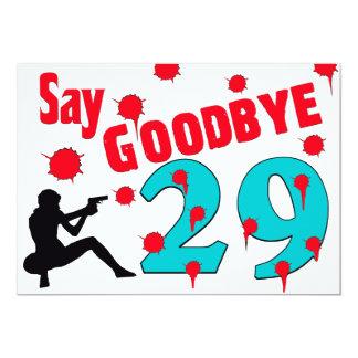 Nehmen Sie 29 A von der 30. der Geburtstags-Feier 12,7 X 17,8 Cm Einladungskarte