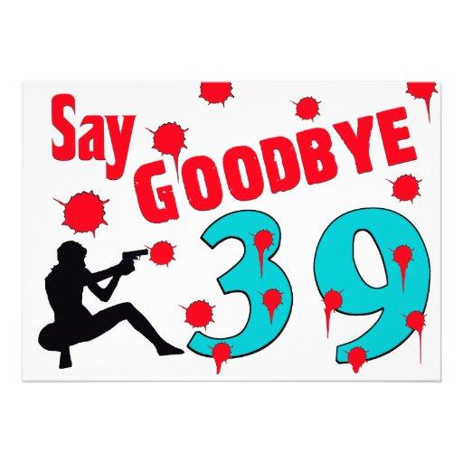 Nehmen Sie 39 A von der 40. der Geburtstags-Feier Personalisierte Einladungen
