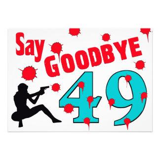 Nehmen Sie 49 A von der 50. der Geburtstags-Feier