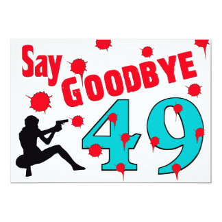Nehmen Sie 49 A von der 50. der Geburtstags-Feier Einladung