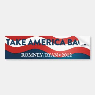 Nehmen Sie Amerika Romney/RyanAutoaufkleber 2012 Autoaufkleber