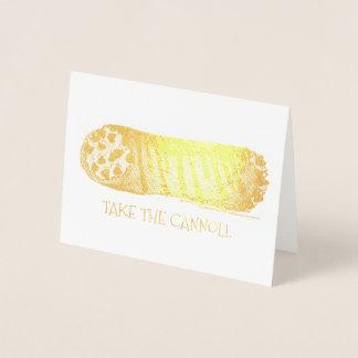 Nehmen Sie dem Cannoli italienisches Folienkarte
