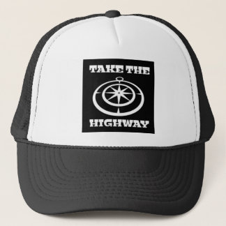 Nehmen Sie den Landstraßen-Fernlastfahrer-Hut Truckerkappe